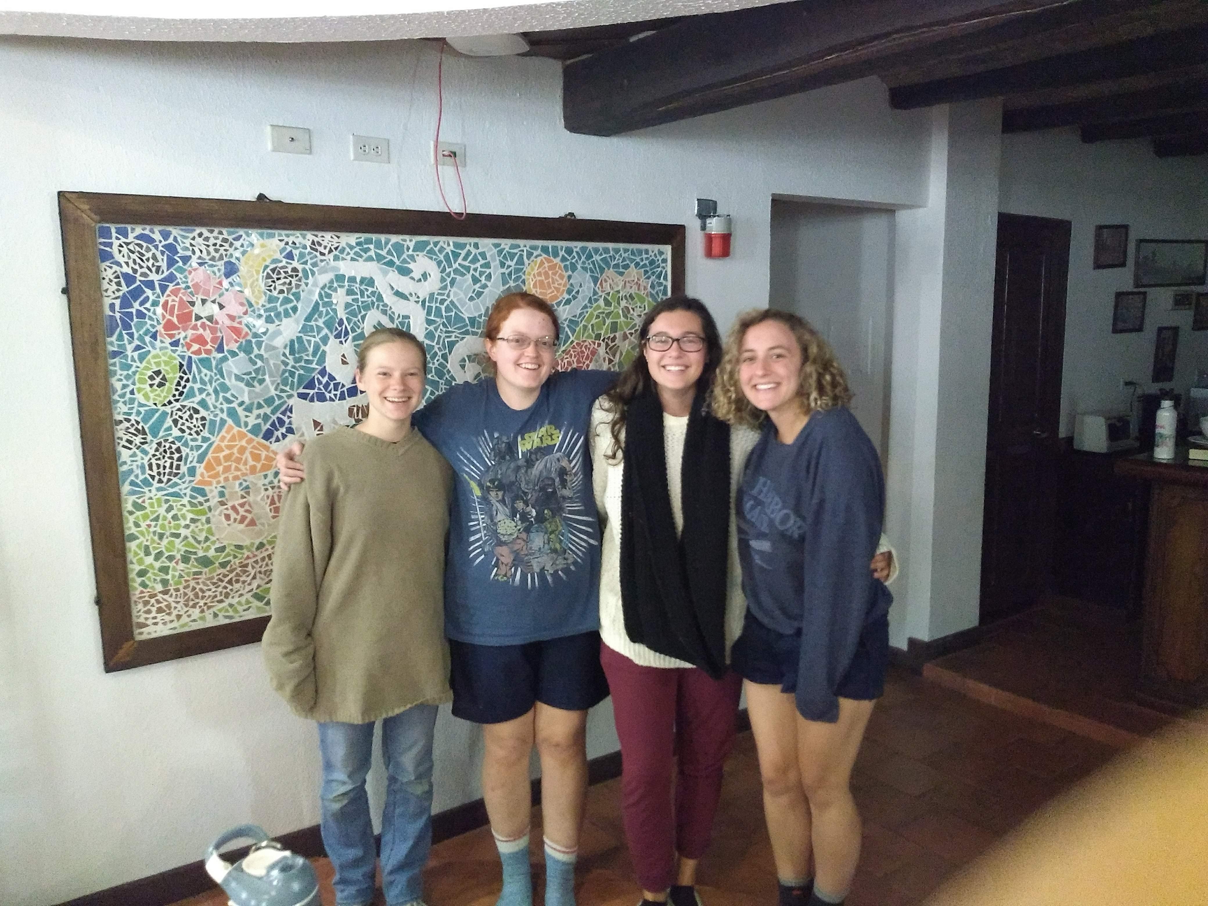 Abi and her friends in Costa Rica